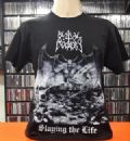 Bestial Mockery - Slaying The Life (Camiseta Manga Curta - Tamanho G/Importada)